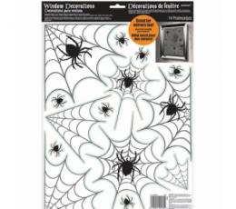 """Logu dekorācijas-uzlīmes """"Zirnekļa tīkli"""" (14 gab.)"""