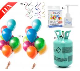 """LUX Hēlija balonu komplekts """"DARI PATS"""", krāsains (20 gab)"""