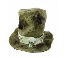 Maisauduma cepure ar skeletgalvu.