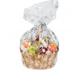 """Maisiņi saldumiem ar pamatni """"Sniegpārslas"""" (6 gab)"""