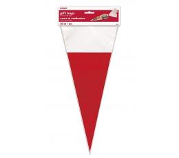 Maisiņi- trijstūri, sarkani-balti ( 20 gab)