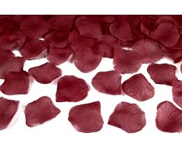 Mākslīgas rožu ziedlapiņas, tumši sarkanas (100 gab)