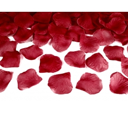 Mākslīgas rožu ziedlapiņas, tumši sarkanas (500 gab)