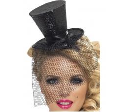 Melna cepure ar sietiņu (1 gab.)