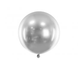 Metalizēts (chrome) balons, sudraba krāsā (60 cm)