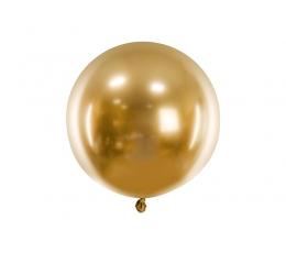 Metalizēts (chrome) balons, zelta krāsā (60 cm)
