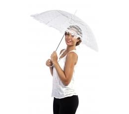 Mežģīņu lietussargs, balts