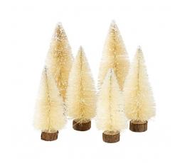 """Mini dekorācijas """"Ziemassvētku eglītes"""" (6 gab)"""