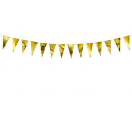 Mini karodziņu virtene, zelta (2,15 m)