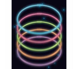 Neona kaklarotas, daudzkrāsainas (10 gab.)