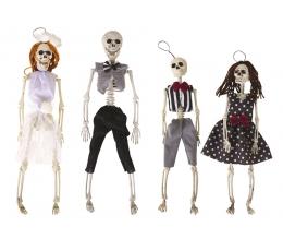 """Pakarināmo rotājumu komplekts """"Skeleta ģimene"""" (4 gab.)"""