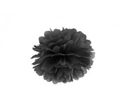 Papīra bumba, melns (25 cm)