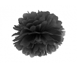 Papīra bumba, melns (35 cm)