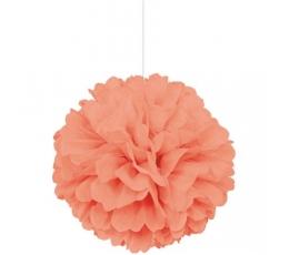 Papīra bumba, persiku krāsā (40 cm)