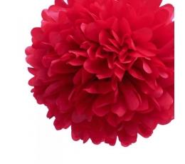 """Papīra bumba """"Pompons"""" sarkana (30cm/2gab)"""