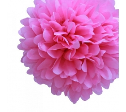 Papīra bumba, rozā (2 gab./30 cm)