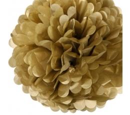Papīra bumba, zelta (2 gab./19 cm)
