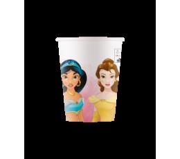 """Papīra glāzītes """"Disney princes"""", kompostējamas (8 gab/200 ml)"""