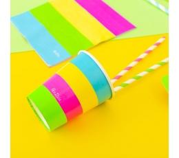 """Papīra glāzītes """"Neon party"""" (8 gab/250 ml)"""