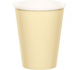 Papīra glāzītes, šampanieša krāsā (14 gab/270 ml)