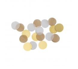 Papīra konfetti, brūngani - zelta (15 g)