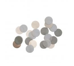 Papīra konfetti, pelēki (15 g)