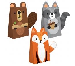 """Papīra maisiņi """"Meža zvēriņi"""" (8 gab)"""