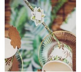 """Papīra salmiņi ar dekorāciju """"Tropi""""  (12 gab)"""