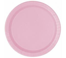 Papīra šķīvīši, maigi rozā (8 gab/22 cm)