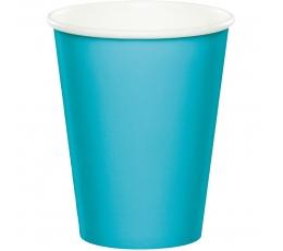 Papīra glāzītes, okeāna krāsā (8 gab/266 ml)