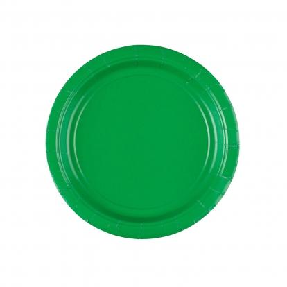 Papīra šķīvīši, zaļi (8 gab/17 cm)