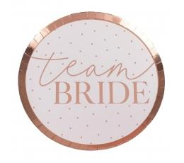 """Papīra šķīvji-paliktņi """"Team Bride"""" (8 gab/24 cm)"""