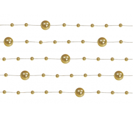 Pērlīšu virtene, zelta krāsā (1,3 m)