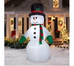 """Piepūšama,  izgaismota dekorācija """"Sniegavīrs"""" (105x155x240 cm / 4 LED)"""