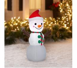 """Piepūšama, izgaismota dekorācija """"Sniegavīrs"""" (70x 45x120 cm / 3 LED)"""