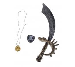 Pirātu komplekts (zobens, acis, medaljons)