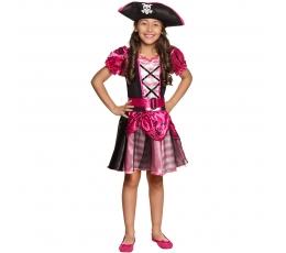 Pirātu kostīms, rozā (4-6 gadi)