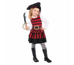 Pirātu kostīms, svītrains (4-6 gadi)
