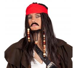 Pirātu parūka ar bārdu un galvas saiti