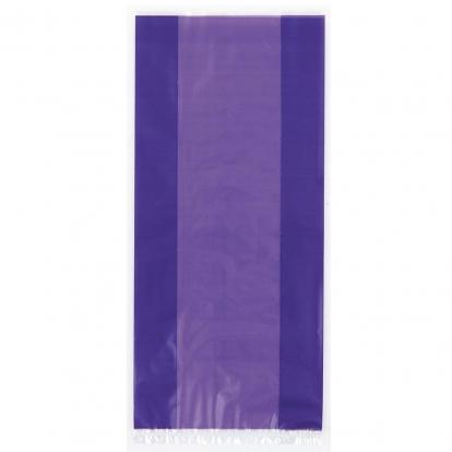 Plastikāta dāvanu maisiņi, violeti (30 gab)
