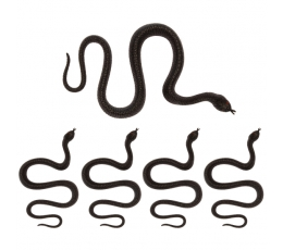Plastmasas čūskas (5 gab./35 cm)