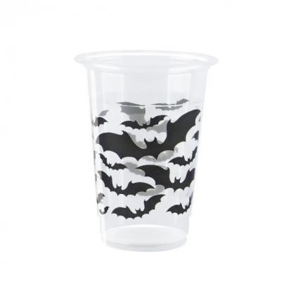 "Plastmasas glāzītes ""Melni sikspārņi"" (8 gab./350 ml)"