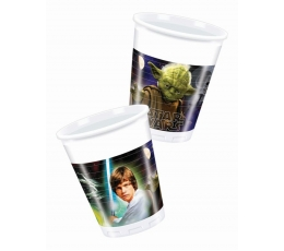"Plastmasas glāzītes ""Zvaigžņu kari"" (8 gab/200 ml)"