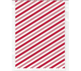 Saldumu-dāvanu maisiņi, sarkani - svītraini (20 gab.)