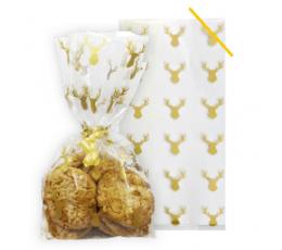 """Saldumu-dāvanu maisiņi """"Zelta briedīšī""""  (20 gab.)"""