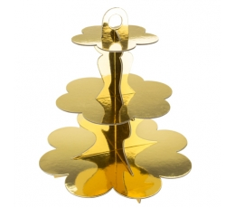 Saldumu statīvs, zelta krāsā (3 stāvi)