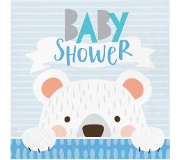 "Salvetes ""Lācītis, Baby Shower"" (16 gab)"