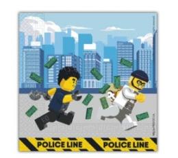 """Salvetes """"Lego City"""" (20 gab.)"""