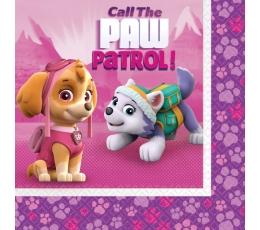 """Salvetes """"Paw Patrol"""", rozā (20 gab)"""