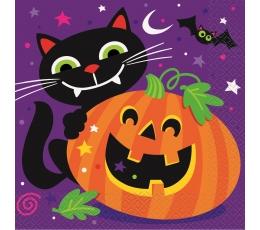 """Salvetes """"Priecīgu Helovīna dienu""""  (16 gab)"""